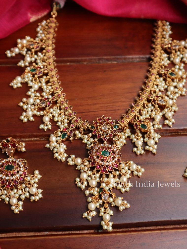 Beautiful Matte Finish Guttapusalu Necklace