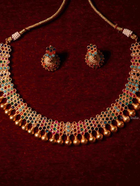 Beautiful Matte Finish Short Necklace