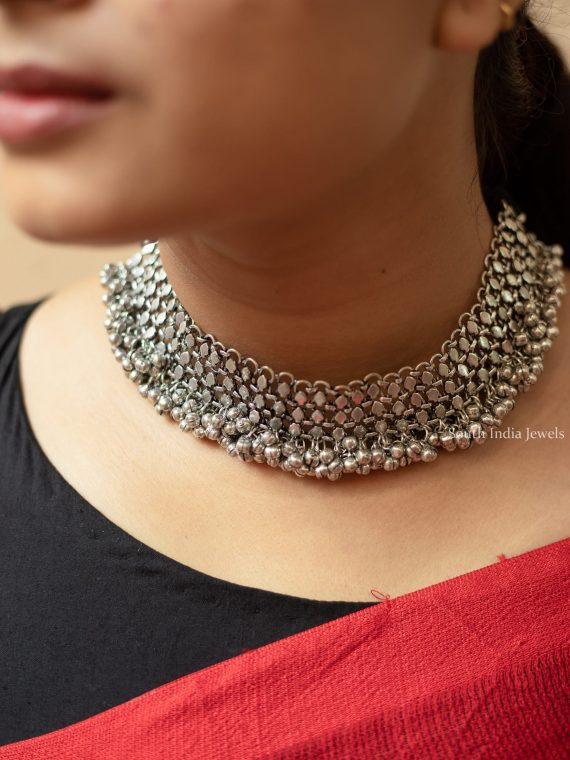 Beautiful Oxidised German Silver Choker