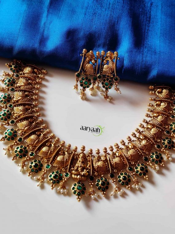 Beautiful Peacock Lakshmi Choker Set