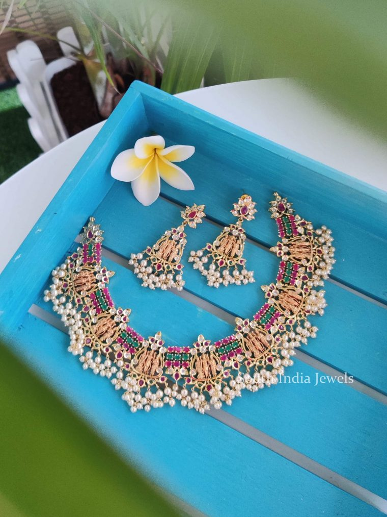 Beautiful Ram Parivar Guttapusalu Necklace-01