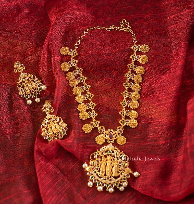Beautiful Ram Parivar Matte Finish Necklace