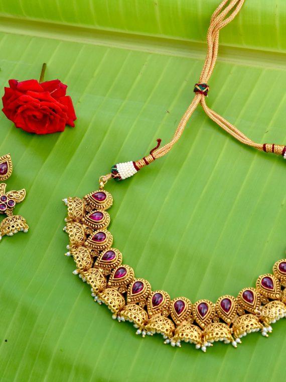 Beautiful Ruby Stone Necklace