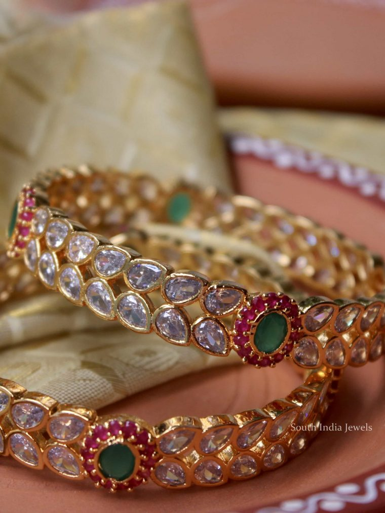 Beautiful Tear Drop Stone Bangles