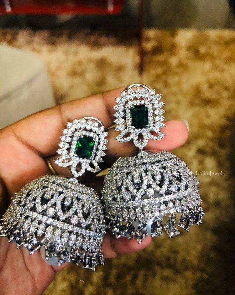 Beautiful Zircon Designer Jhumka