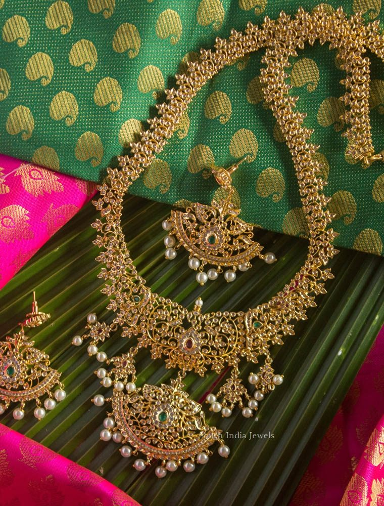 Bridal Wear Long Haram with Earrings