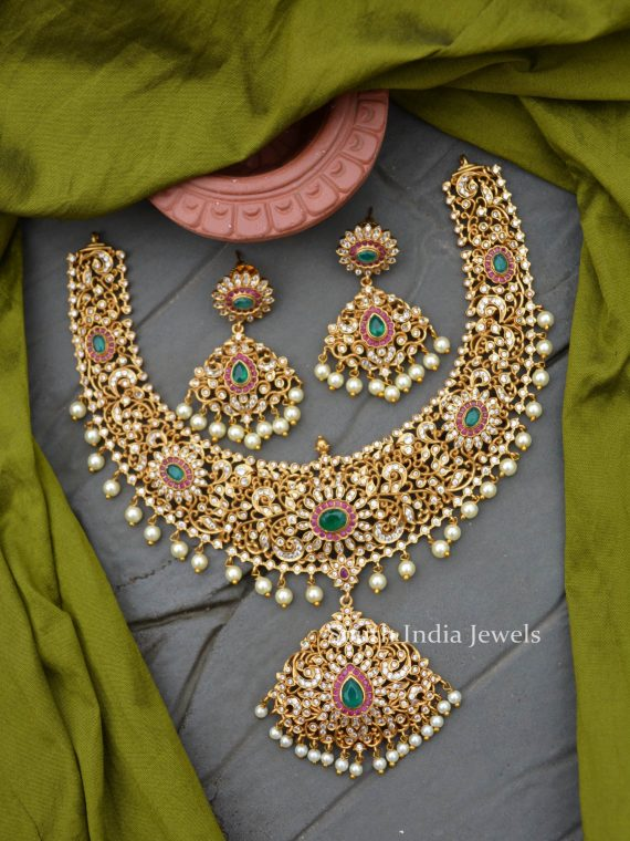 Bridal Wear Matte Finish Necklace