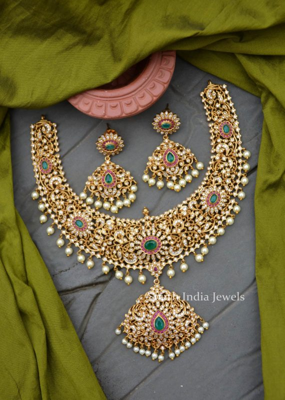 Bridal Wear Matte Finish Necklace