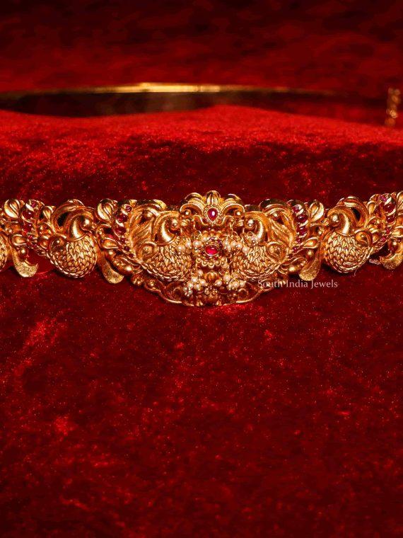 Bridal Wear Peacock Design Hip Belt-01