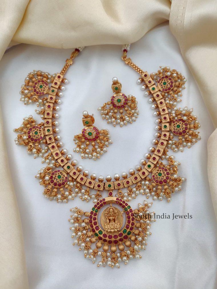 Classic Chakra Design Kemp Stone Necklace