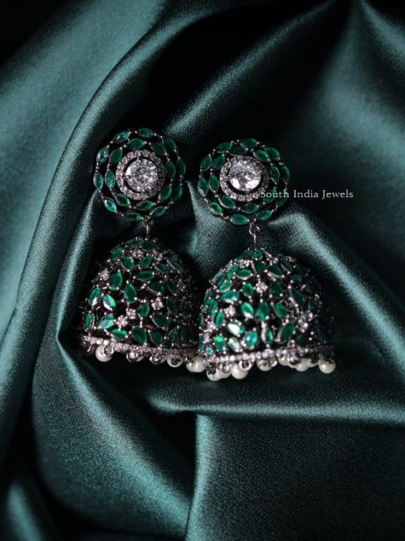 Classic Emerald Revolving Jhumka