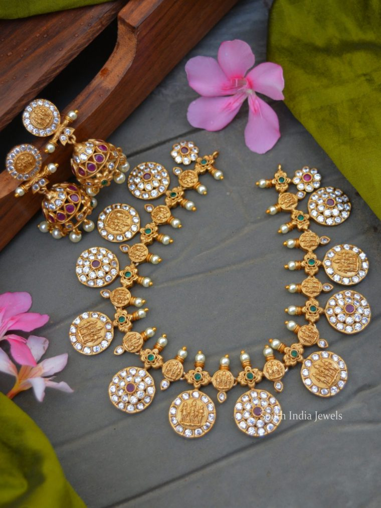 Classic Ram Parivar Temple Necklace