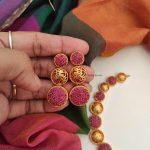 Designer Trendy Wear Red Color Stone Necklace-02