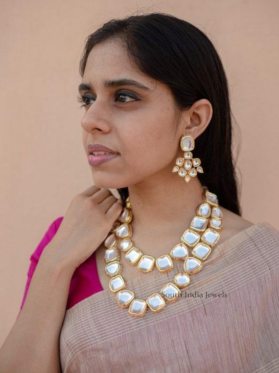 Designer Two Layer Kundan Necklace-01