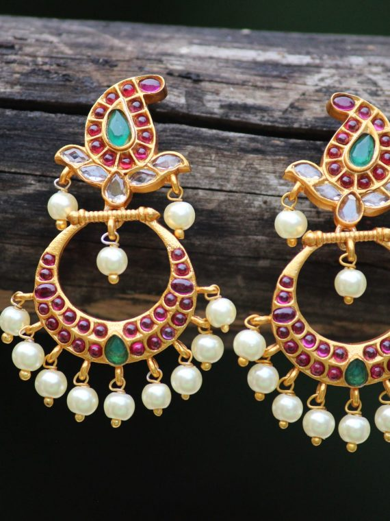 Elegant Chandbali Mango Design Earrings