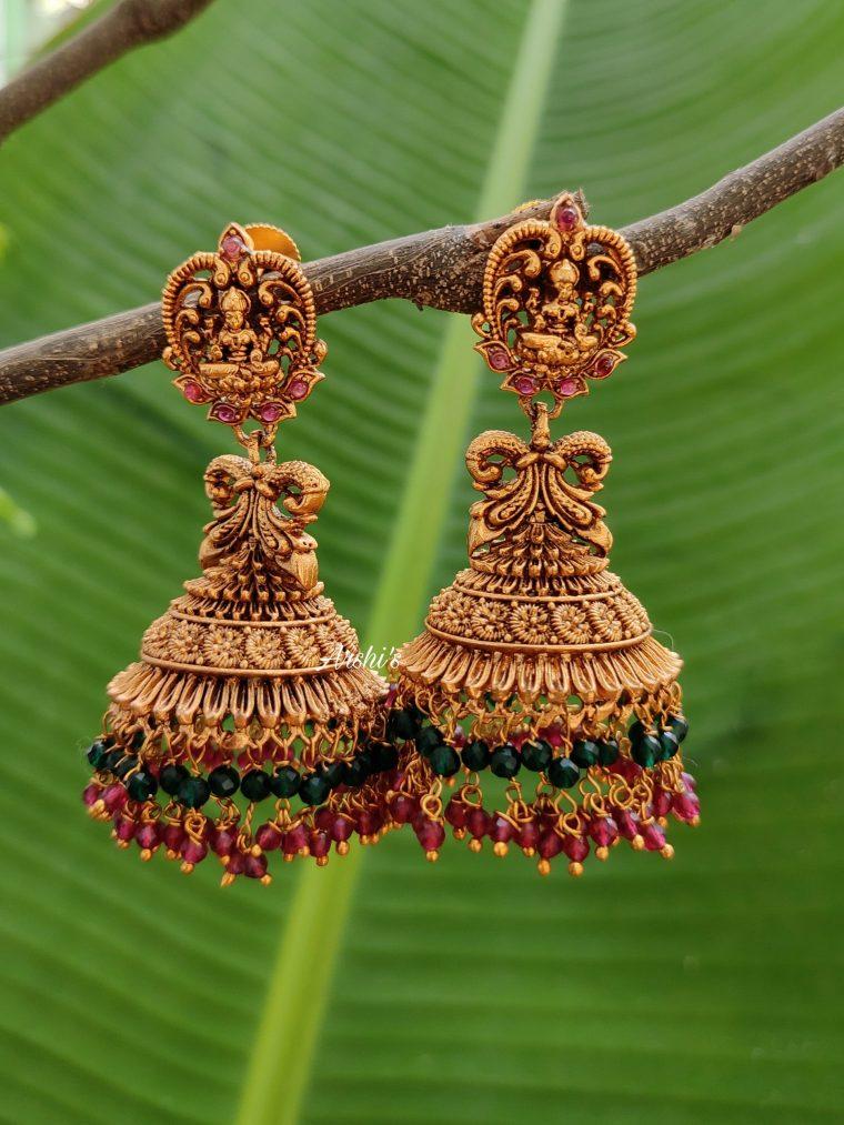 Elegant Imitation Lakshmi Design Jhumka-01