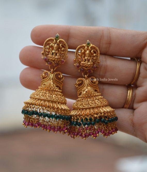 Elegant Imitation Lakshmi Design Jhumka