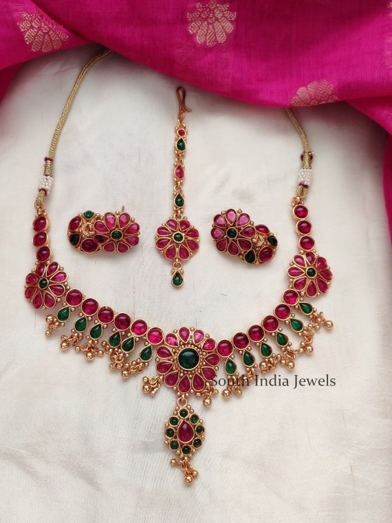 Elegant Matte Finish Kemp Stone Necklace