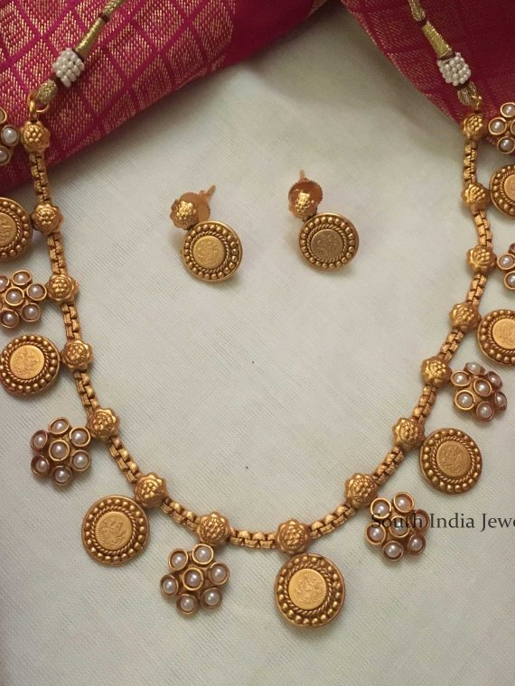 Elegant Matte Finish Pearl Necklace
