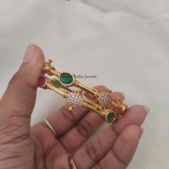 Elegant Multi Stone Designer Bangles