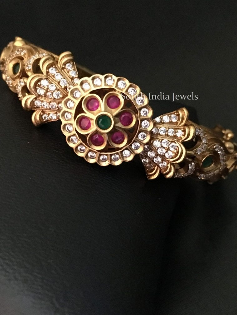 Elegant Multi Stone Studded Kada Bangle