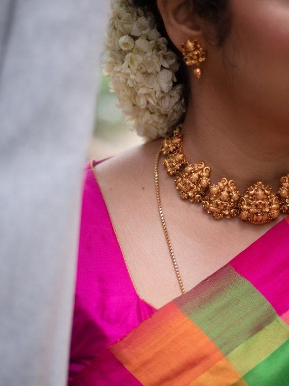 Elegant Nagas Lakshmi Choker Set