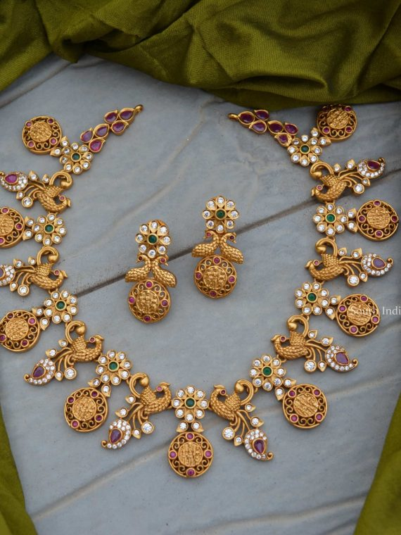 Elegant Peacock Design Ramparivar Necklace