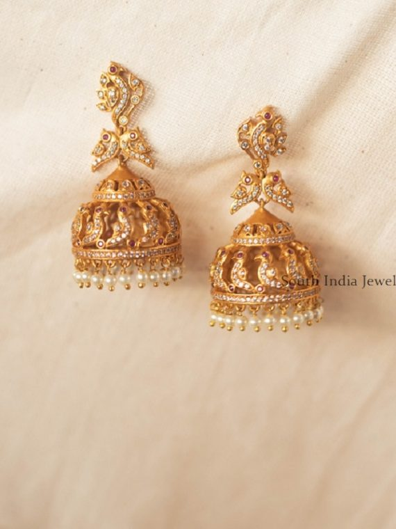 Elegant Peacock Statement Jhumka