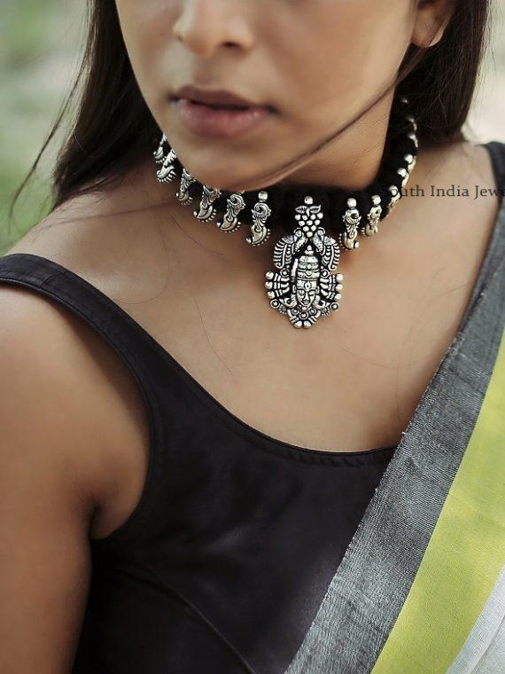 German Silver Varna Shiva Choker Set