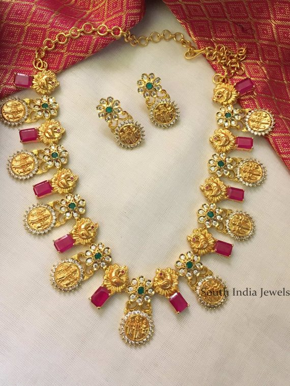 Gold Replica Ramparivar Necklace-01