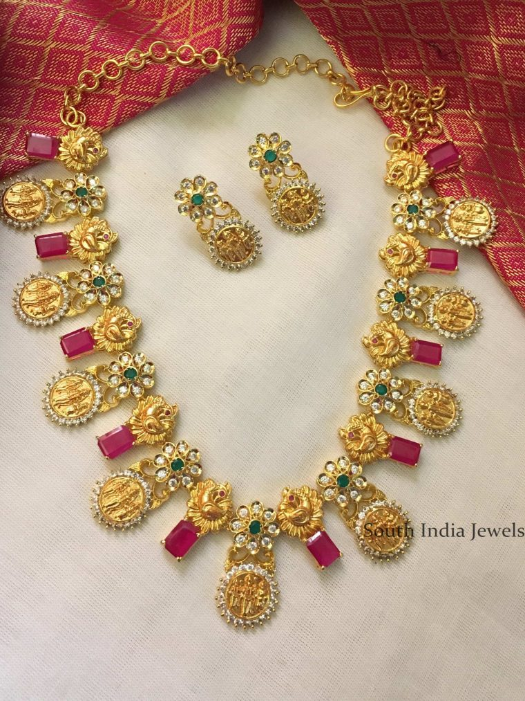 Gold Replica Ramparivar Necklace-01