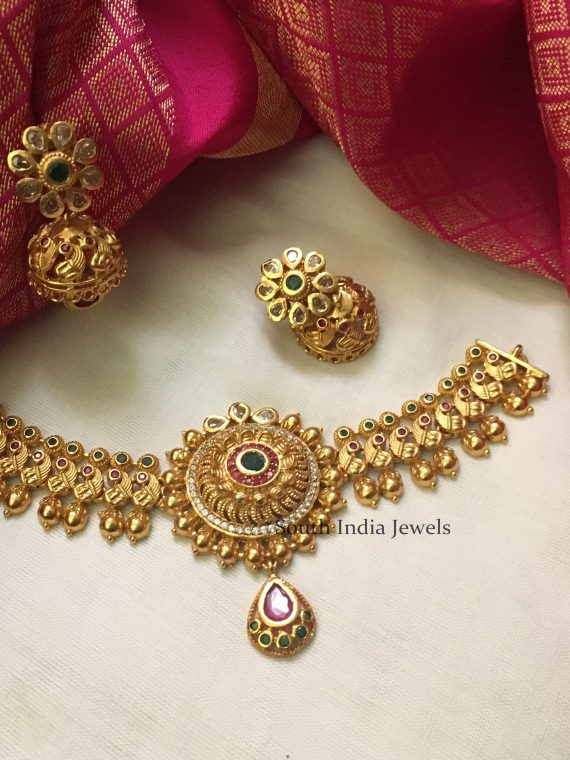Gorgeous Imitation Choker with Jhumkas