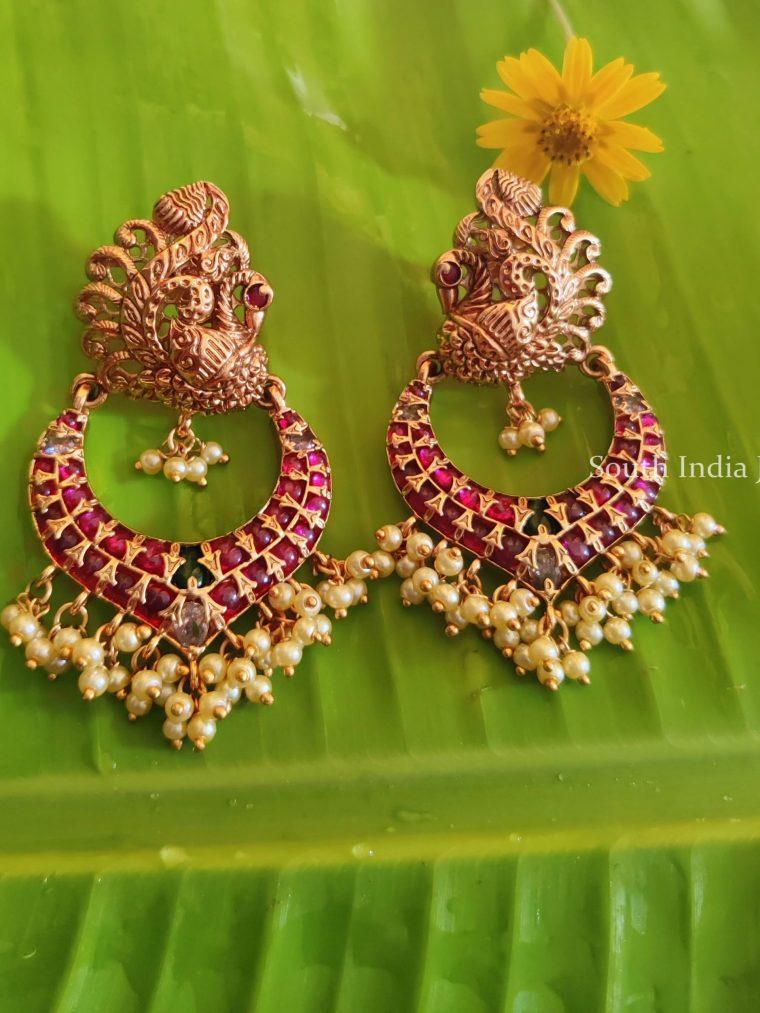 Gorgeous Kemp Stone Chandbali Earrings