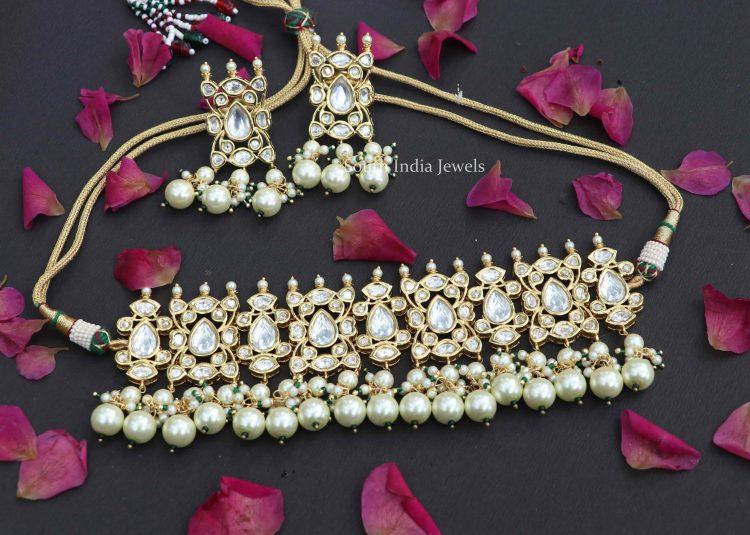 Gorgeous Kundan Choker Set with Earrings