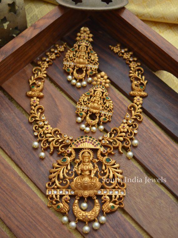 Gorgeous Lakshmi Design Matte Finish Necklace