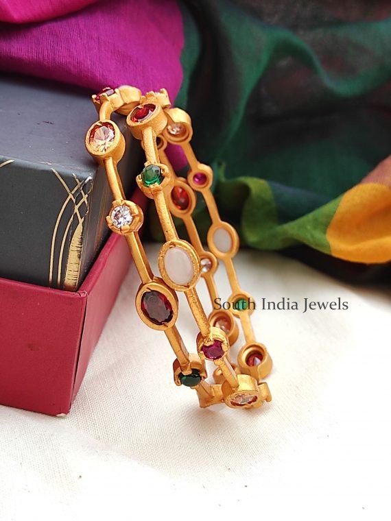 Gorgeous Navarathna Stone Bangles-01