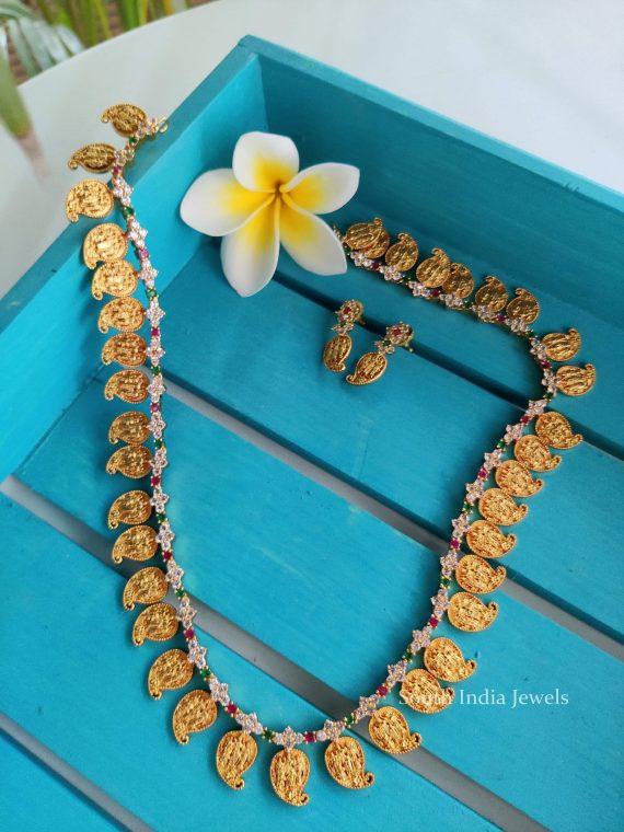 Gorgeous Ram Parivar Mango Design Long Haram