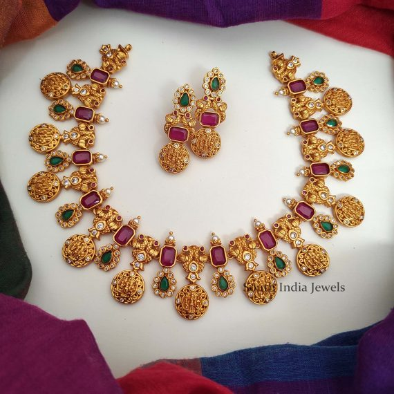 Gorgeous Ram Parivar Matte Finish Necklace
