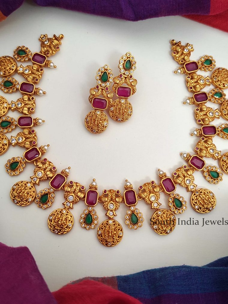 Gorgeous Ram Parivar Matte Finish Necklace