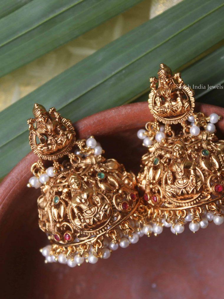 Grand Imitation Lakshmi Design Jhumka