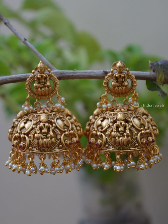 Grand Imitation Lakshmi Jhumka
