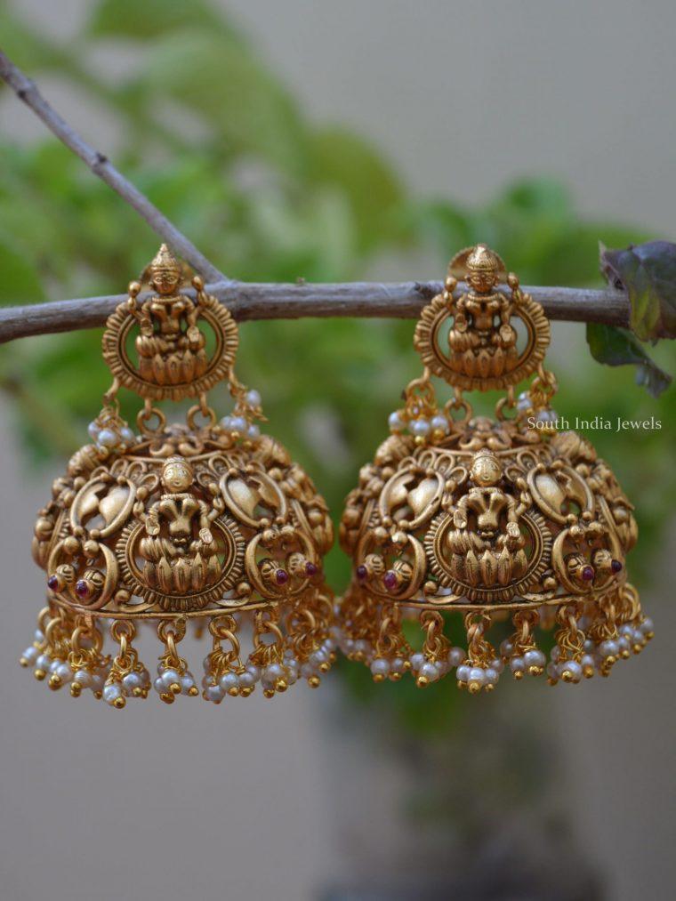 Grand Imitation Lakshmi Jhumka