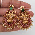 Grand Lakshmi and Peacock Design Necklace-02