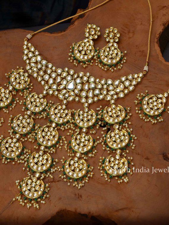 Grand Mughal Style Bridal Kundan Necklace-01