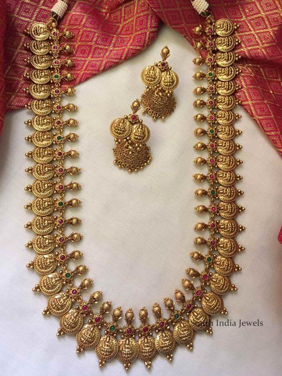 Grand Multi Stone Lakshmi Kaasu Haram-01