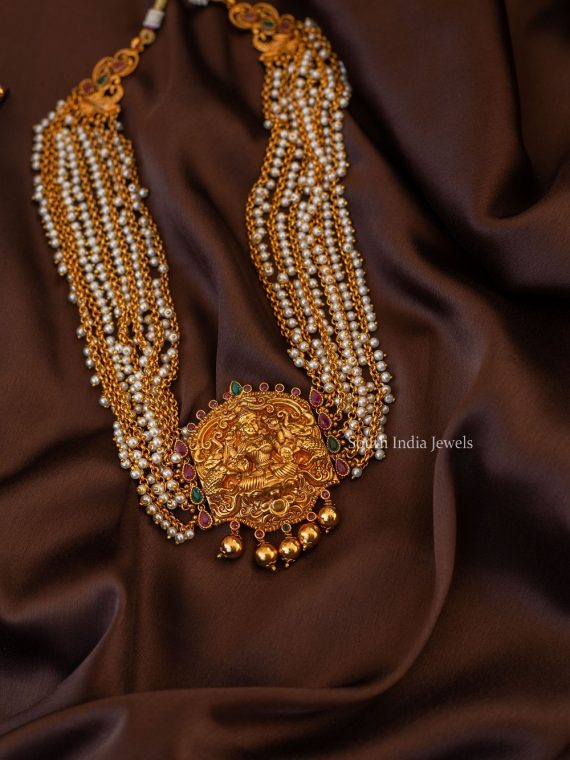Grand Pearl Cluster Lakshmi Necklace