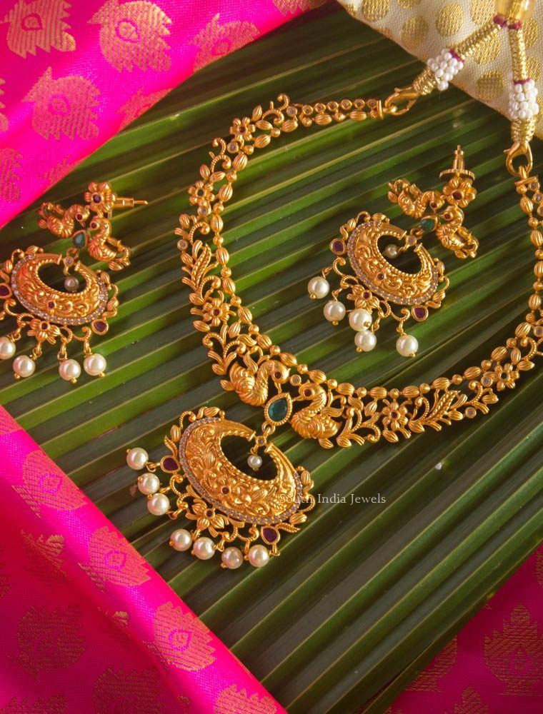 High Quality Dual Peacock Necklace Set