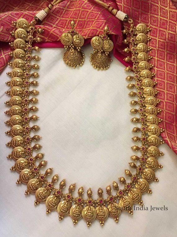 Imitation Antique Lakshmi Kaasu Long Haram-01
