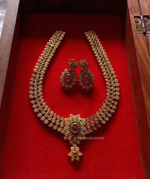 Imitation Cut Work Stone Necklace-01