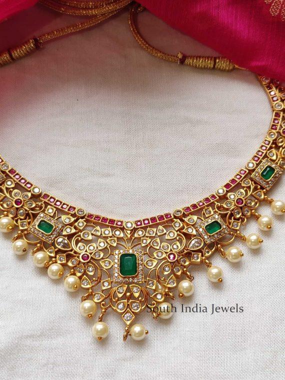 Imitation Kemp & Ruby Emerald Necklace